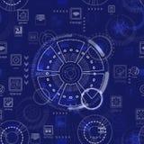 Teste padrão sem emenda Tecnologia futura abstrata ilustração do vetor