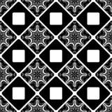 Teste padrão sem emenda Telha decorativa com árabe étnico, indiano do vintage, islâmico, motivos do otomano Ilustração do vetor Fotos de Stock Royalty Free