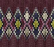 Teste padrão sem emenda Textura do Knit Foto de Stock Royalty Free