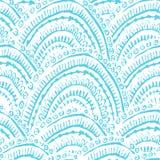 Teste padrão sem emenda textured pintado mão Imagem de Stock