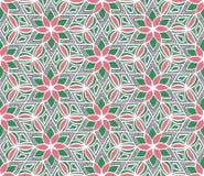 Teste padrão sem emenda tirado mão do hexágono geométrico da flor Tex floral Imagens de Stock