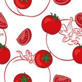 Teste padrão sem emenda Tomates ilustração do vetor