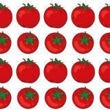 Teste padrão sem emenda Tomates Fotografia de Stock