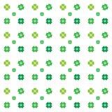 Teste padrão sem emenda - 4 trevos das folhas Imagem de Stock