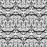 Teste padrão sem emenda Triângulo abstrato Fundo preto e branco Imagem de Stock
