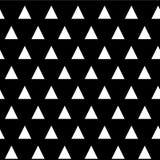 Teste padrão sem emenda triangular geométrico preto e branco do vetor Foto de Stock Royalty Free