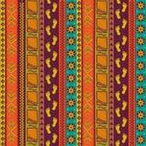 Teste padrão sem emenda tribal étnico Textura popular tirada mão ilustração stock