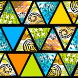 Teste padrão sem emenda tropical do batik africano Decorat abstrato do verão fotografia de stock