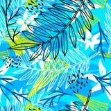 Teste padrão sem emenda tropical do batik exótico étnico Coroful abstrato fotos de stock royalty free