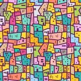 Teste padrão sem emenda urbano colorido Estilo liso Imagens de Stock