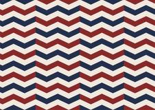 Teste padrão sem emenda velho do vermelho da glória do diamante de Chevron, o branco e o azul Foto de Stock Royalty Free