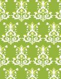 Teste padrão sem emenda verde e branco Imagem de Stock