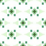 Teste padrão sem emenda verde e branco do motivo oriental geométrico da grade da telha Imagem de Stock Royalty Free