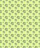Teste padrão sem emenda verde floral com linhas fundo ilustração do vetor