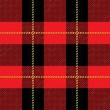Teste padrão sem emenda vermelho da manta de tartã Fotografia de Stock Royalty Free