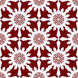 Teste padrão sem emenda vermelho dos flocos de neve do White Christmas Fotografia de Stock