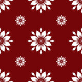 Teste padrão sem emenda vermelho dos flocos de neve do White Christmas Imagens de Stock