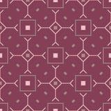 Teste padrão sem emenda vermelho roxo geométrico Fotografia de Stock