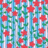 Teste padrão sem emenda vertical da fita do sorriso da flor Fotografia de Stock