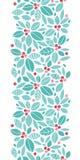 Teste padrão sem emenda vertical das bagas do azevinho do Natal Fotografia de Stock