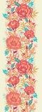 Teste padrão sem emenda vertical das flores vibrantes coloridas Foto de Stock Royalty Free