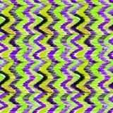 Teste padrão sem emenda vibrante do ikat verde e lilás da aquarela Teste padrão tribal na moda no estilo do watercolour Pena do p ilustração royalty free