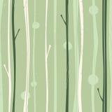 Teste padrão sereno da floresta ilustração stock