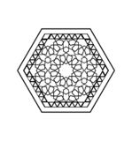 Teste padrão sextavado branco do preto do estilo de Médio Oriente ilustração royalty free