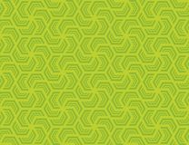 Teste padrão sextavado sem emenda Verde na luz - verde do projeto imagens de stock
