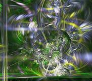 Teste padrão simétrico colorido do fractal como a flor Imagens de Stock