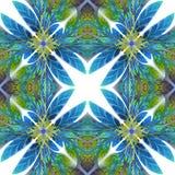 Teste padrão simétrico das folhas Você pode usá-lo para o convite Fotos de Stock Royalty Free