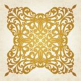 Teste padrão simétrico do ornamento no estilo vitoriano no fundo sem emenda das ondas. Fotografia de Stock Royalty Free