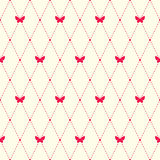 Teste padrão simples com elementos e borboletas do argyle Fotos de Stock