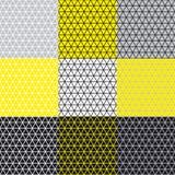 Teste padrão simples da geometria com linha erva-benta Fotografia de Stock