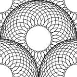 Teste padrão simples das linhas tênues Fundo de repetição sem emenda Linha preta no branco Fotografia de Stock