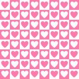 Teste padrão simples do coração Foto de Stock Royalty Free
