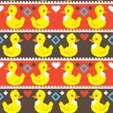 Teste padrão simples engraçado dos patos Imagens de Stock Royalty Free