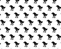 Teste padrão simples preto do pássaro Fotos de Stock