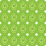Teste padrão simples sem emenda do vetor com ovos decorativos ilustração royalty free