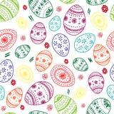 Teste padrão simples sem emenda do vetor com ovos decorativos ilustração do vetor