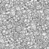 Teste padrão social dos botões Fotos de Stock
