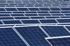 Teste padrão solar da central elétrica da planta fotos de stock
