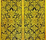 Teste padrão tailandês do ouro da arte muito velho Imagens de Stock