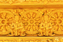 Teste padrão tailandês dourado Foto de Stock
