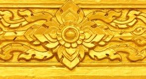 Teste padrão tailandês dourado Imagens de Stock Royalty Free