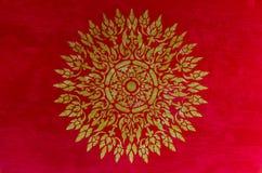Teste padrão tailandês dourado Fotos de Stock Royalty Free