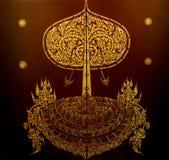 Teste padrão tailandês na seda Imagens de Stock Royalty Free