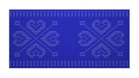 Teste padrão tecido escandinavo Foto de Stock