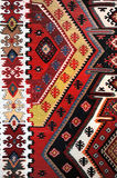 Teste padrão tecido mão do kilim Foto de Stock