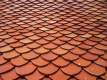 Teste padrão telhado do fundo do telhado Imagem de Stock